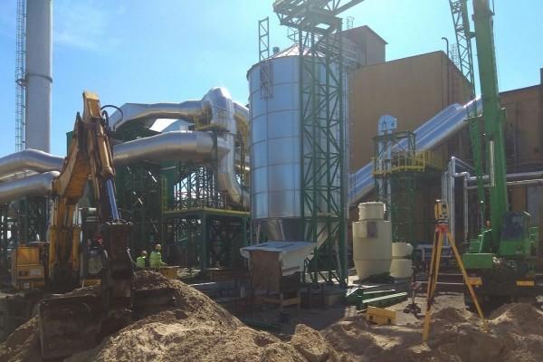 Prace podczas budowy Hali przemysłowej